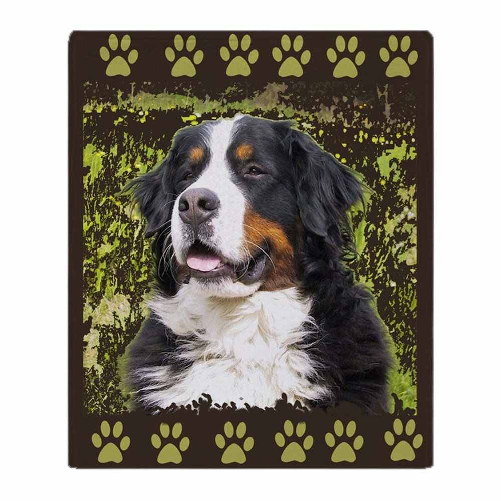 Bernese Mountain Dog Home Dec Soft Fleece Throw Blanket Soft Flannel Blanket to on for the sofa/Bed/Car Portable Plaids