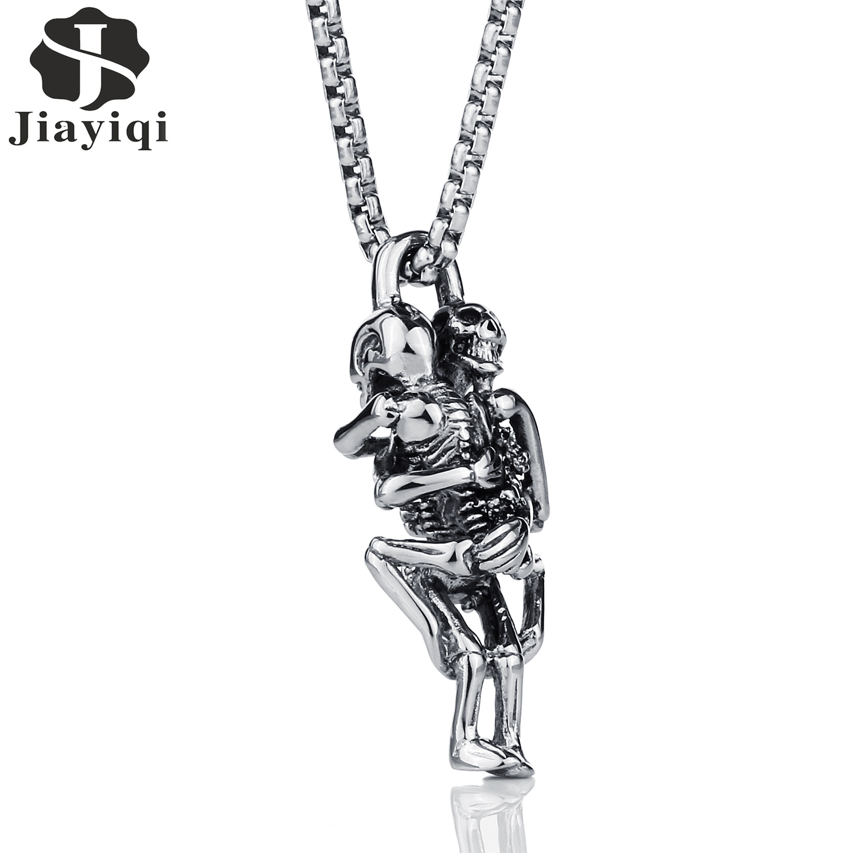 Aliexpress Buy Jiayiqi Punk Skull Hug Pendants
