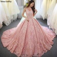 Vinca sunny Pink Ball Gown Wedding Dresses vestido font b de b font noiva long font