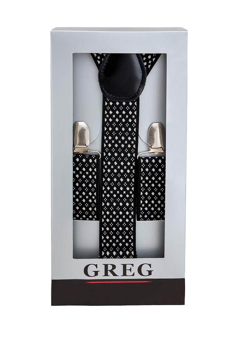 Suspenders mens box GREG G 1 48 Black mens 100