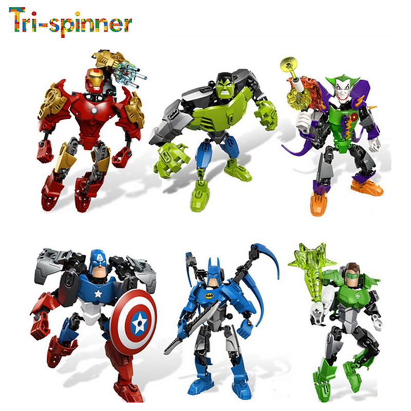 Educational lepine Block model Avengers Puzzle Action Figure Toy DIY Building Blocks Christmas Gift Toys for children heart shape ru bun lock children puzzle toy building blocks