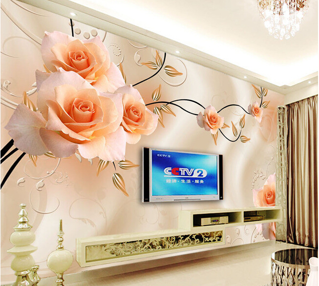 Custom papel DE parede 3 d,fantasy rose flower painting for the living room bedroom TV background wall waterproof wallpaper custom flowers wallpaper 3d fashion rose simple mural for the living room bedroom tv background wall waterproof papel de parede