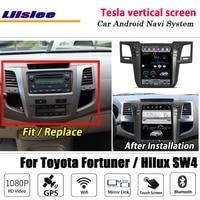 Liislee Android Tesla vertical For Toyota Fortuner / Hilux SW4 Stereo Car BT Carplay GPS Navi Map Navigation System Multimedia