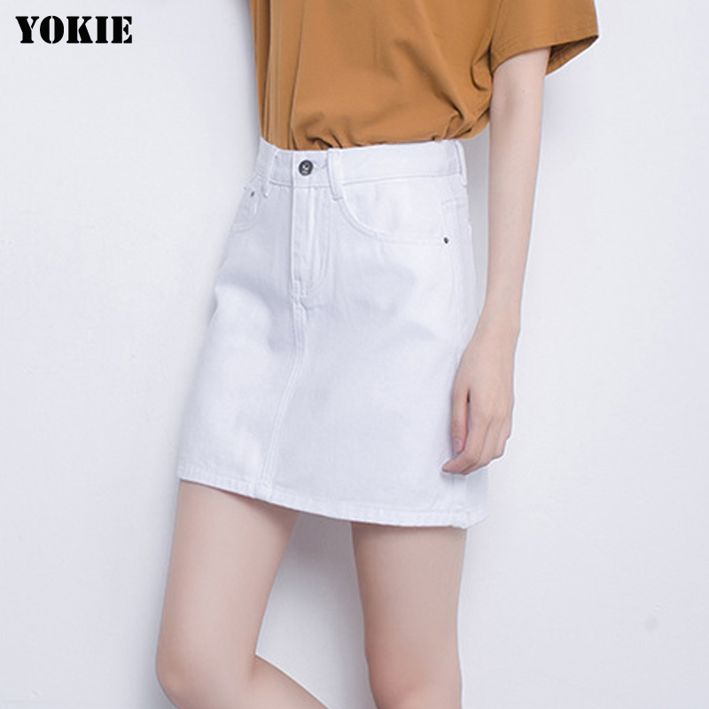 White Jean Skirt Promotion-Shop for Promotional White Jean Skirt ...