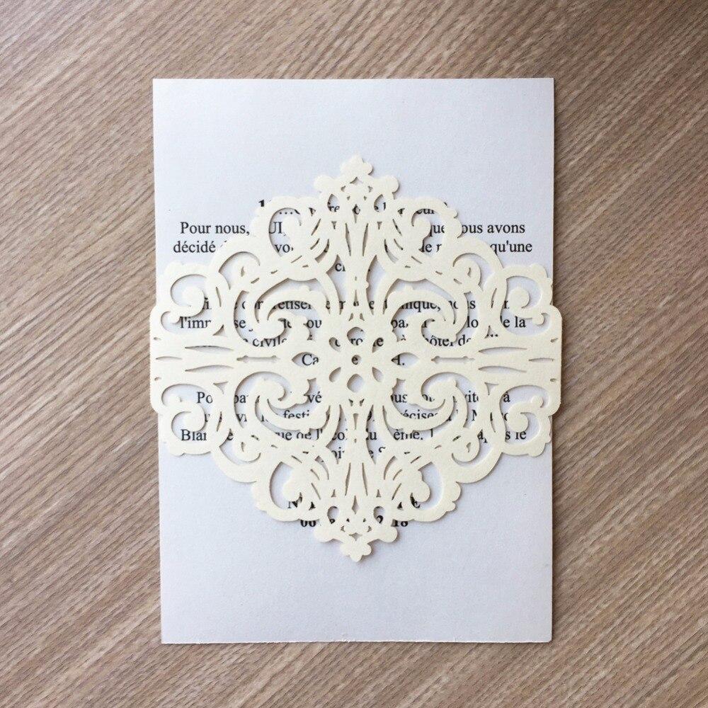 50Pcs/lot Unique Vine Design Laser Cut Pearl Paper Buckle