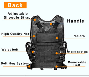 Image 4 - High Quality Tactical vest security outdoor training combat CS field protection vest For Paintball Game SWAT Team