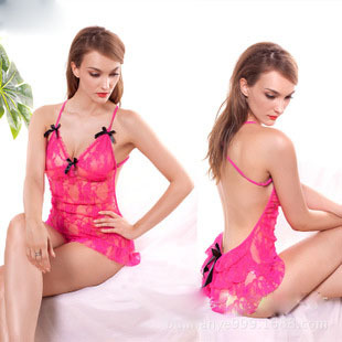 2015 New Fashion font b Sex b font Product Women Underwear Sexy Lace Lingerie Nightgown Backless