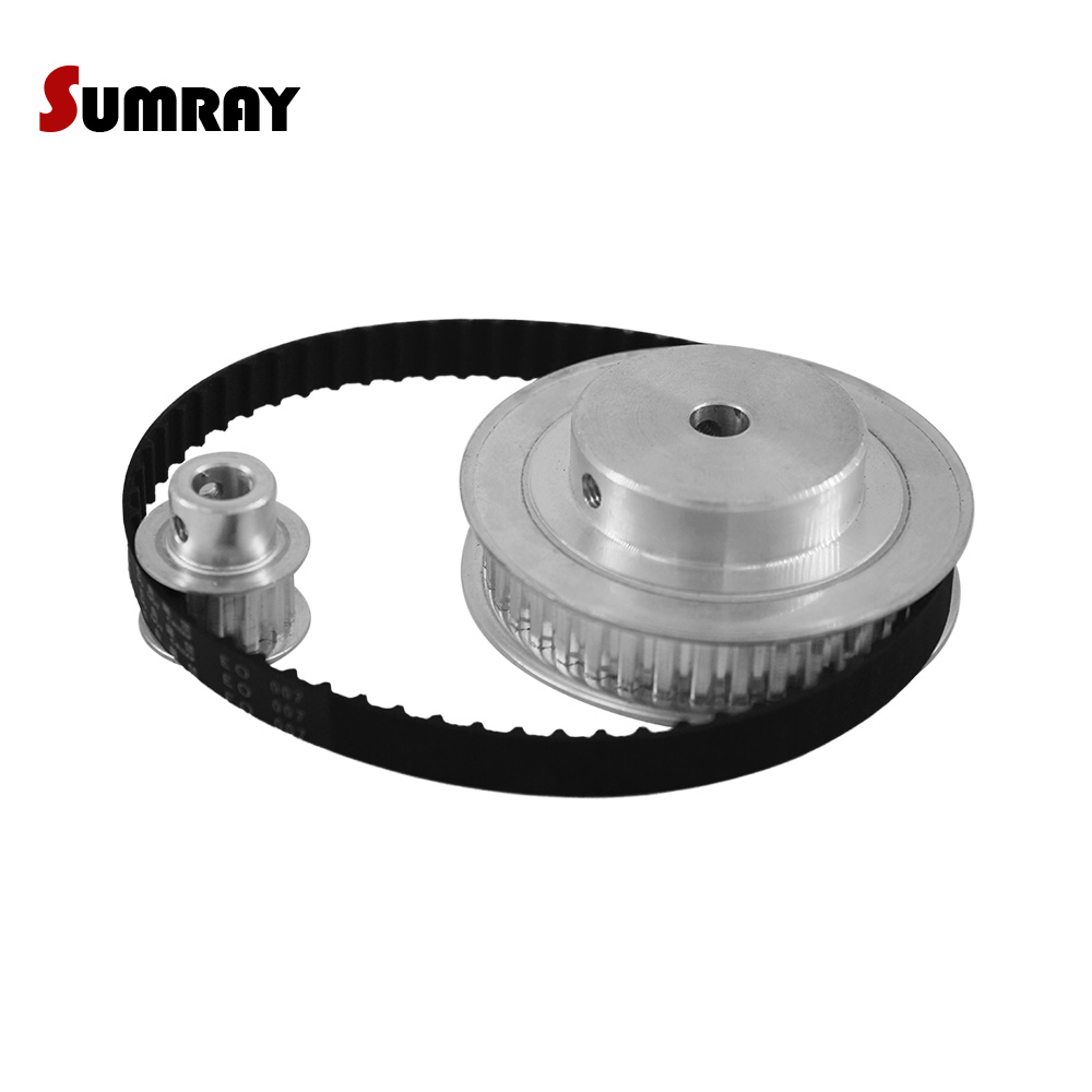 SUMRAY XL Timing Belt Pulley Set XL 10T 40T 11mm Belt Width Tooth Belt Pulley Reduction 1:3 130XL Stepper Motor Pulley 1 Set цена