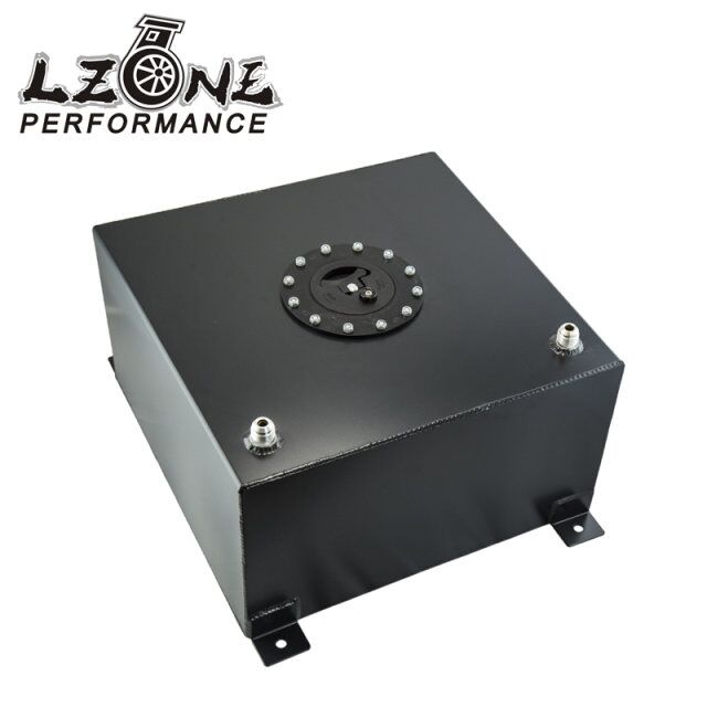 LZONE RACING - BLACK Aluminium Fuel Surge tank with Cap/foam inside Fuel cell 40L without sensor JR-TK21BK 20l aluminum fuel surge tank with cap foam inside mirror polished fuel cell without sensor