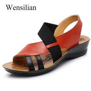 18717f6fbbca3 Wensilian Summer Women Ladies Flat 2018 Shoes Sandales