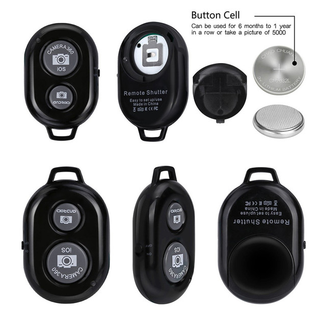 Shutter Release button for selfie accessory camera controller adapter photo control bluetooth remote button for selfie 2