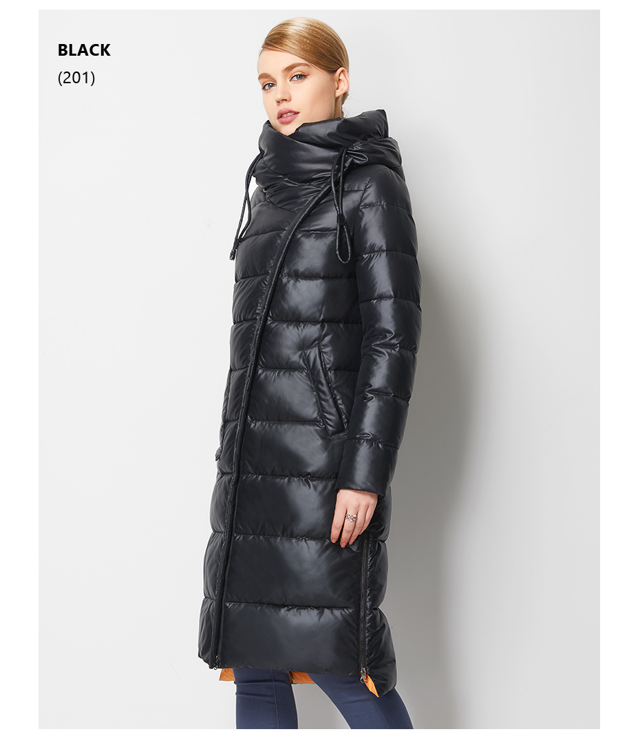Fashionable Coat Jacket Women's Hooded Warm Parkas Bio Fluff Parka Coat High Quality Female New Winter Collection 22
