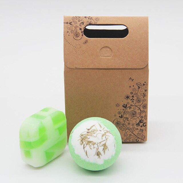 Tsing Bath bomb set 120g SPA Gift Set Green tea handmade Soap 100g Citronella Set Soap Natural bath bombs Scented Soap Nourish