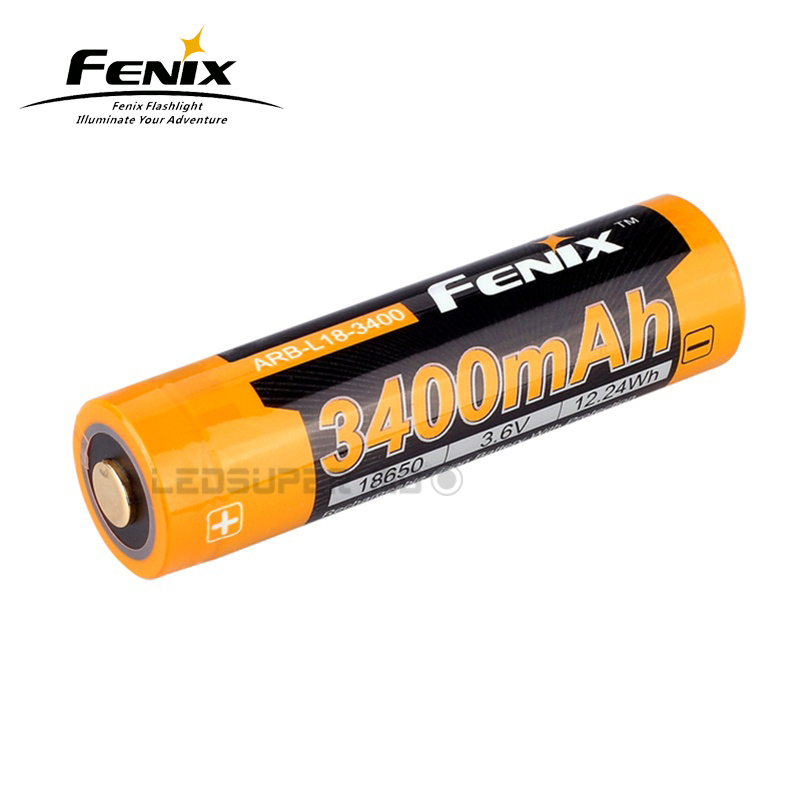 Original Fenix ARB-L18-3400 / 3500 Li Ion Cell 3400mAh / 3500mAh 3.6V Rechargeable 18650 Battery For Portable Lighting