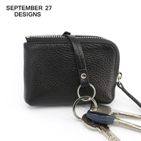 Zipper coin purse women's wallet famous brand genuine leather change purses Money Bag key Pouch Card Holder Small Coin Pocket
