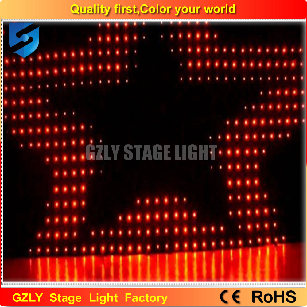 Color booth online - 2m 4m P18 Led Video Curtain Dj Booth Effect Light Dj Stage Light Romantic Wedding Decoration Backdrops