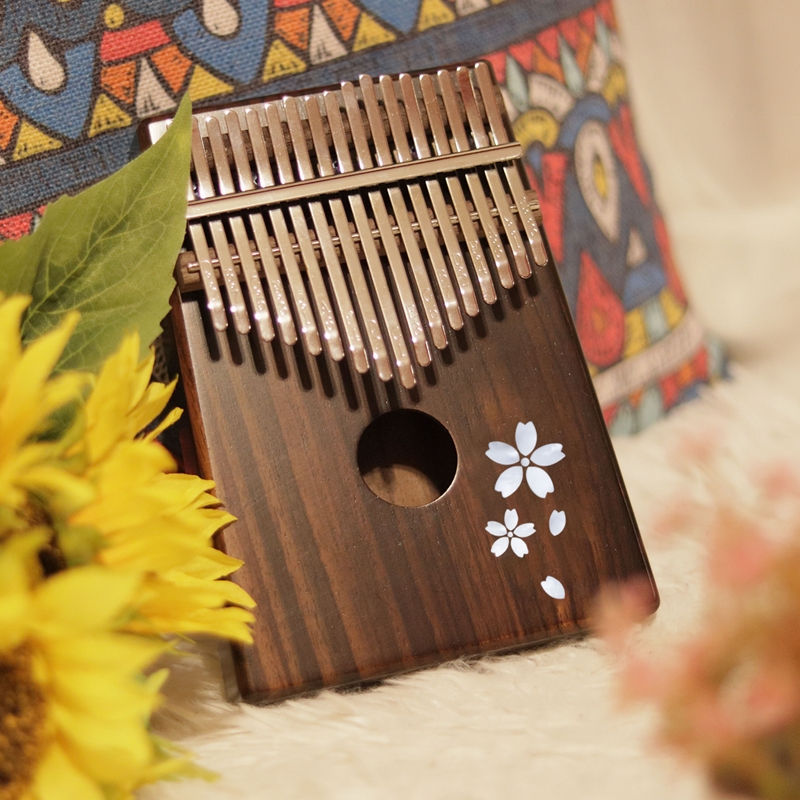 Enya 17 Toetsen Kalimba met bag Solid Mahonie Palissander Bamboe Duim Piano Mbira Calimba muziekinstrumenten