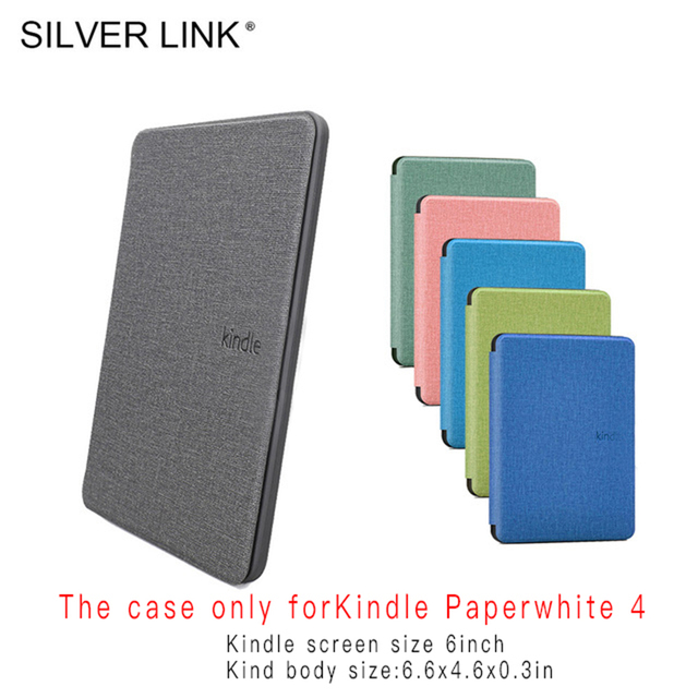 SILVER LINK Soft Silicone Kindle Case For Amazon Kindle Paperwhite 4 Case 2018 10th Generation  E-reader Magnetic kindle Case