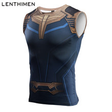 2018 Running Vest Mannen Quick Dry Training Compressie Panty Tank Top Gym Sport Vest Mannelijke Fitness Mouwloze T-shirts Avengers 3(China)