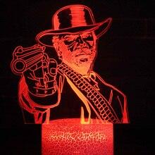 Dutch Van Der Linde Led Night Light Lamp Bedroom Decor Game Red Dead Redemption 2 Nightlight Gift Home Decoration Accessories
