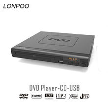 LONPOO Newest DVD Player Portable USB 2.0  External DVD Rom Drive Multimedia Digital DVD TV Support HDMI Function Black