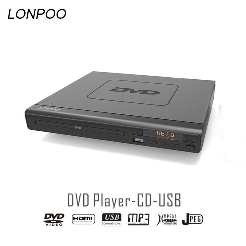 LONPOO Newest DVD Player Portable USB 2.0  External DVD Rom Drive Multimedia Digital DVD TV Support HDMI Function Black жертвуя пешкой dvd