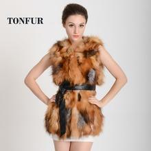 2015 New Arrival Real Fox Fur Natural Genuine Women luxury Fox Fur Vest fashion brand fur