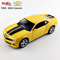 1 24 Scale Brand Children Maisto 2010 Camaro Bumblebee Metal Die Cast Racing Vehicle Play Collectible