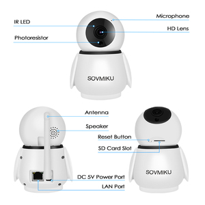 Image 5 - Cámara inalámbrica WIFI de 1080P, intercomunicador bidireccional de seguridad infrarroja para el hogar, cámara IP HD, Monitor de bebé, cámara de vigilancia de seguimiento automático