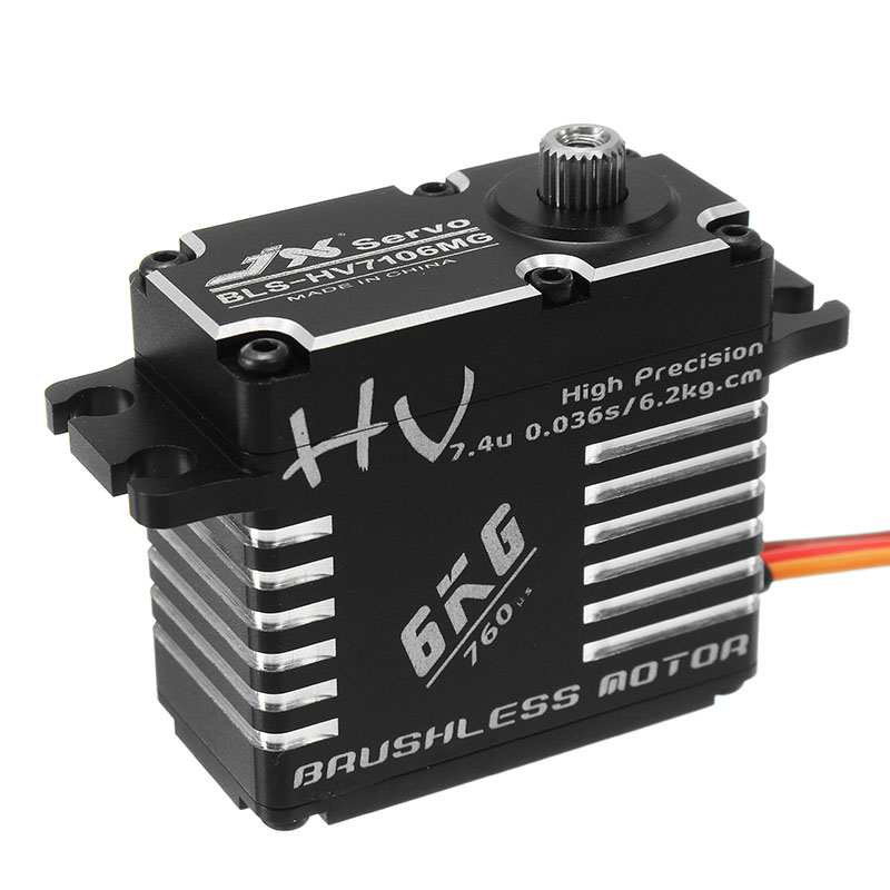 JX BLS-HV7106MG 6KG HV High Precision Steel Gear Digital Brushless Lock Tail Servo High Quality RC Helicopter Parts Accessories kds n290 metal gear digital servo lock tail for 250 helicopter