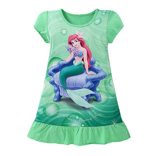 חדש לילדים 3-10Y בנות ילדי נסיכת שרוול קצר שמלת קיץ בנות בנות