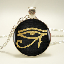 Ancient Egyptian Eye of Horus,Eye of Ra Symbol Pendant Choker Statement Silver Necklace For Women Dress Accessories-Abaicer HZ1