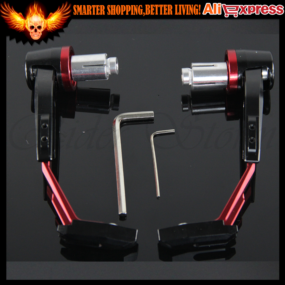 ФОТО For DUCATI Monster 695 696 796 848 1098 1198 1199 Red Motorcycle Handlebar Brake Clutch Lever Protect Guard Handgrip Guard