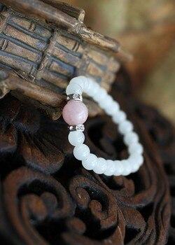 Bracelet Quartz Rose Et Pierre De Lune