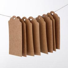 50 шт. натуральные коричневые крафт-бирки кожа с однотонным цветом джутовые бирки для багаж для одежды этикетки ручной работы 4*7 см 4*9 см