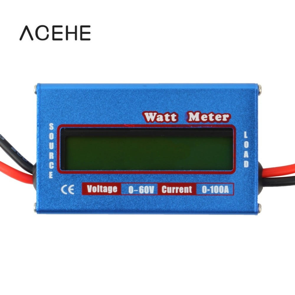 ACEHE Digital LCD Screen 100A 60V DC RC Helicopter Airplane Battery Power Analyzer Watt Meter Balancer FOR RC Hobby mos rc airplane lipo battery 3s 11 1v 5200mah 40c for quadrotor rc boat rc car