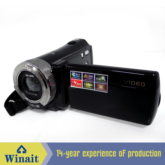Hot Sell Mini 16MP HD720P Black Red Digital Video Camera Recorder DV101 With 16x Digital Zoom JPEG AVI Video Recording Camcorder