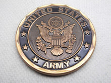 Cheap Custom coin High quality U.S. army infantry challenge hot sales Plated bronze low price zinc alloy FH810191