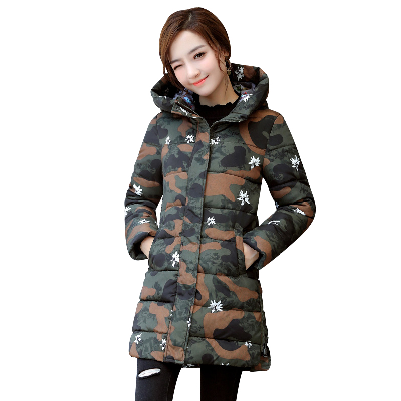 New Winter Jacket Women Hooded Thicken Coat Female fashion Warm Outwear Down Cotton-Padded Long Wadded Jacket Coat Parka TB7923 snowka down parka winter jacket women 2016 famous brand white down jacket thicken women coat warm hooded outwear belt silm parka