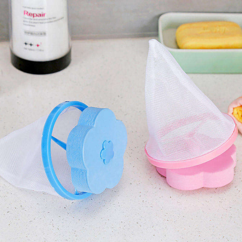 Household Flower-shaped Lint Filters Floating Ball Laundry Cleaning Filter Bag Washing Machine Net Mesh Hair Removal Device
