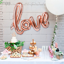 FRIGG  Love Letter Foil Balloons Champagne Balloon Wedding Party Decoration Rose Gold Ballon Valentines Day Decor