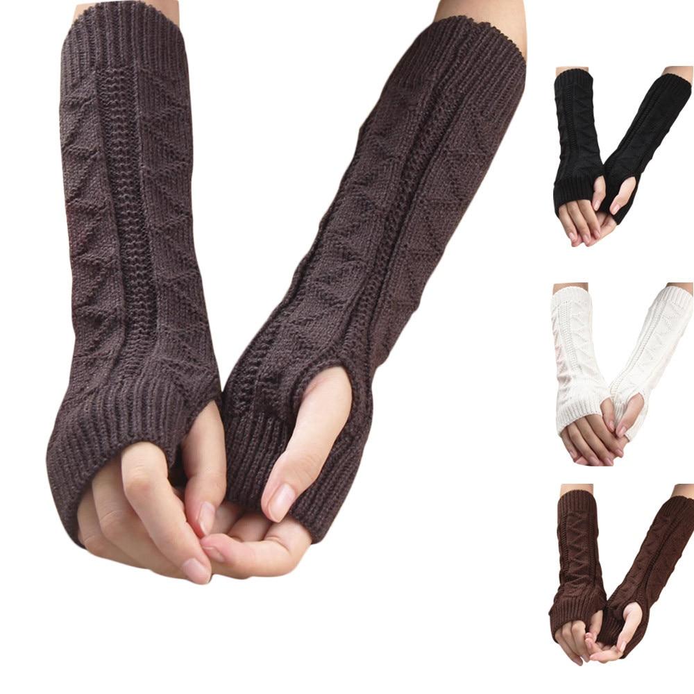 Excellent Quality Winter Autumn Warm Gloves Keyboard Leak Finger Knit Gloves warm in winter girls gloves 2018 new