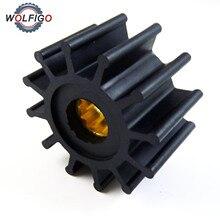 Wolfigoウォーターポンプ羽根車船内エンジン冷却インペラ用ボルボ·ペンタomcコブラ3862281 21951346 21951348 3855546