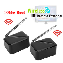 Hot Sale Wireless IR Remote Extender adapter repeater transmitter and receiver sender 200m Blaster Emitter for TV DVD DVR IPTV