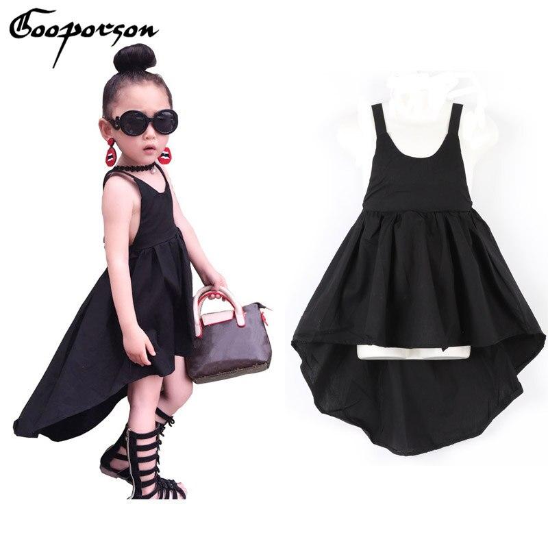 GOOPORSON Baby Mädchen Kleid Backless Schwarz Unregelmäßigen Mädchen ...
