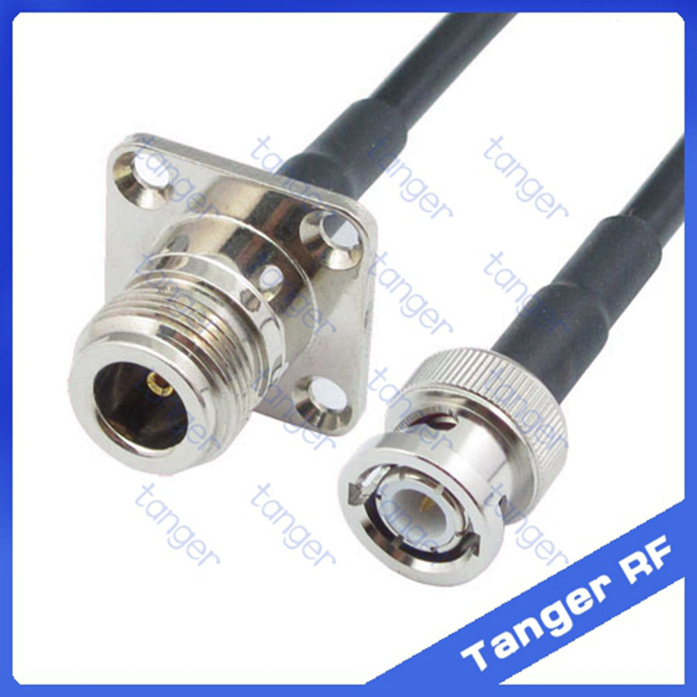 20inch N type male plug to BNC male RF pigtail cable RG142 50cm NEW high qualit