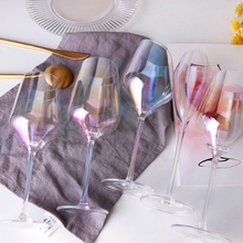 Europe Rainbow crystal glass cup Goblet champagne cups Cocktail Glass drinking wine glasses wedding home Bar Hotel Drinking ware
