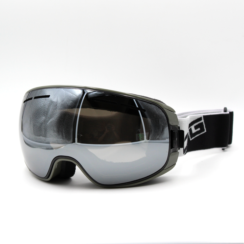 f42c89bc07a Silver Lens Gray Frame Brand New Ski Goggles UV400 Anti Fog Eyewear Mask  Glasses Skiing Men Women Snow Snowboard Goggles-in Skiing Eyewear from  Sports ...