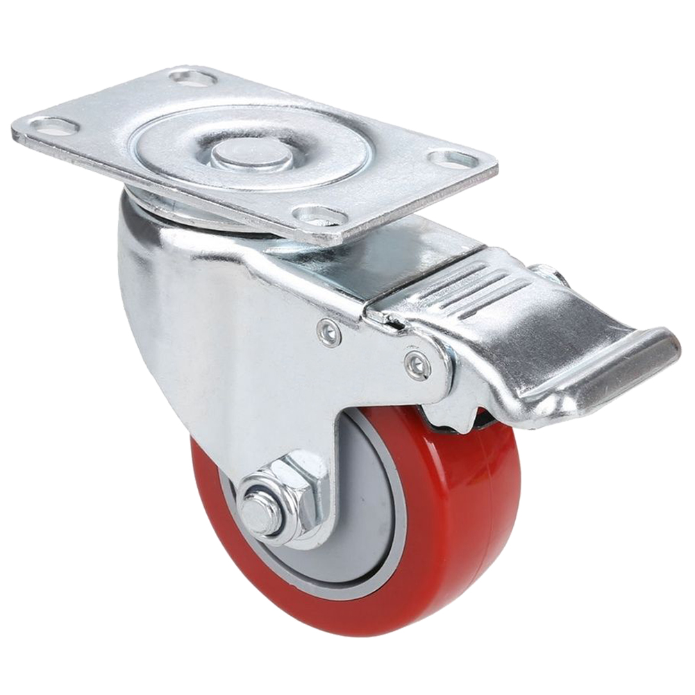 3 inch Caster Wheels Swivel Plate Break Casters Pack of 4 PCS 3 inch swivel with solid stem hospital bed casters medical caster wheels