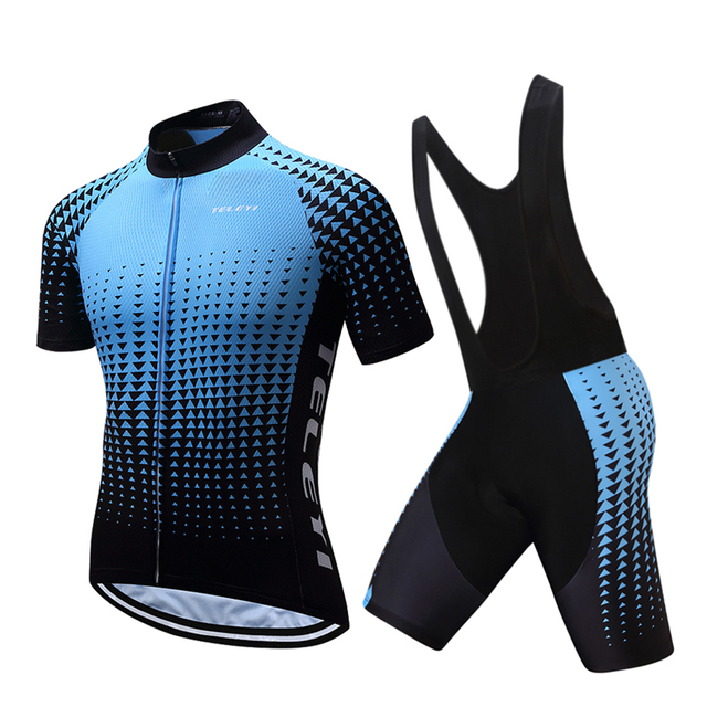 Teleyi 2018 Pro Team Man Cycling Clothing Sets Male Short Sleeve